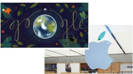 Apple. Google, Earth Day 2017, Google Doodle Earth Day, Earth Day Google Doodle, Apple Park, Apple Earth Day challenge, Apple Earth Day badge, Apple recycling, technology, technology news