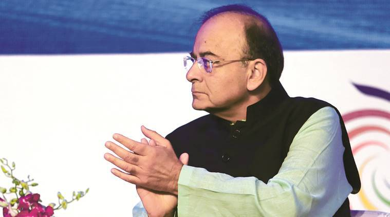 Arun Jaitley, Telangana solar plant, Karna windmill project, Indian Express News