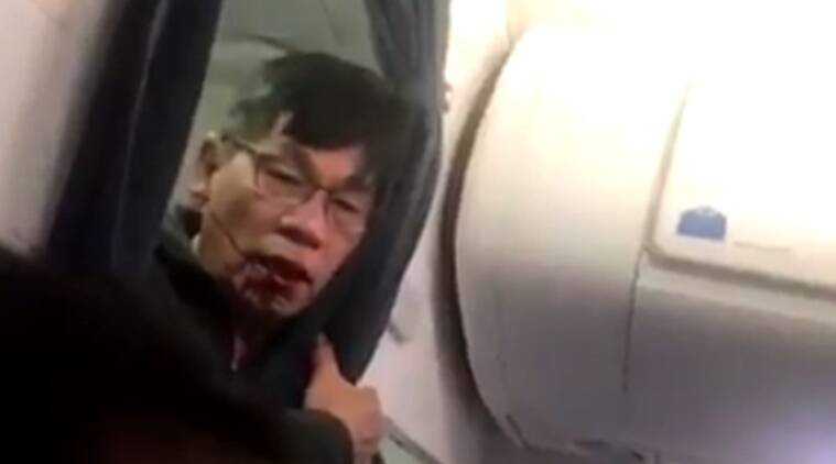 united airlines, united flight, united flight 3411, man dragged united flight, asian man dragged off flight, us flight man dragged, asian man dragged united flight, usa news, owrld news, latest news, indian express
