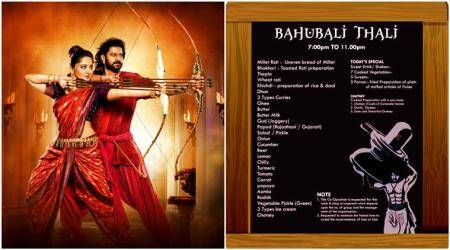 Not just a thali, it's Baahubali: Ahmedabad restaurant's ode to the movie with a king-size platter