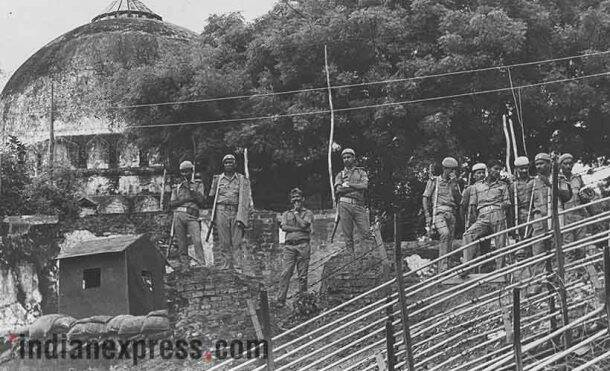babri masjid, babri case, babri demolition case, advani babri masjid, babri masjid demolition, bjp leaders, advani, advani babri masjid, mm joshi, uma bharti, babri masjid photos, Indian express babri masjid, Indian express babri masjid photos, Express archive photos, Ayodhya babri masjid pictues, indian express photos