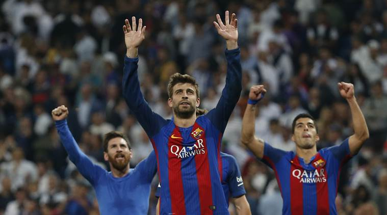 Real Madrid, Barcelona, El Clasico, Clasico, Real, Madrid, Barca, Real Madrid vs Barcelona, Real vs Barca, Madrid vs Barca, Lionel Messi, Zinedine Zidane, Zidane, Luis Enrique, La Liga, title race, Spanish league, football news, sports stories, Indian Express