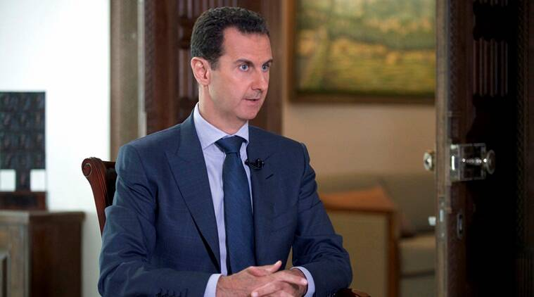 "Image result for Assad calls chemical attack ""100 percent fabrication"""