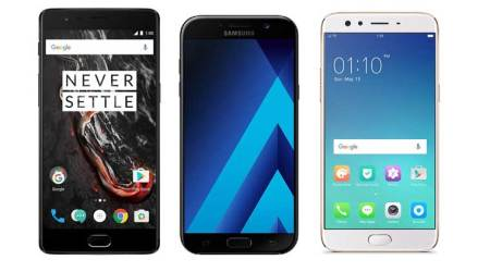 OnePlus 3T, OnePlus 3T Black colour, Samsung Galaxy A7 (2017), Galaxy A7, Moto Z Play, Moto Z, OnePlus 3T vs Oppo F3 Plus, Oppo F3 vs vivo V5 Plus