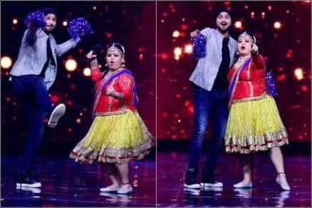 bharti singh, harbhajan singh, bharti harbhajan dance