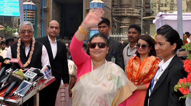 Bidya devi bhandari, nepal president, india visit, Jagannath temple, Kasturi, india-nepal, india news, indian express news