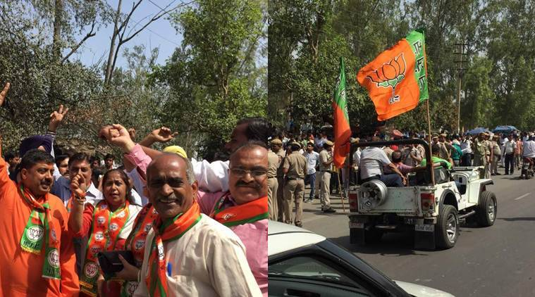 mcd, mcd results, MCD Election results 2017, MCD poll results, MCD, BJP, bjp wins mcd, bjp wins, MCD vote counting, MCD results 2017, MC counting photos, Counting photos, BJP victory, BJP photos, Congress, AAP, Delhi news, Delhi , Latest MCD photos, Indian express photos,
