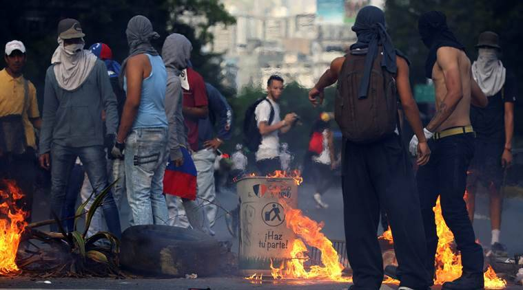 Caracas protests, Venezuela, Venezuela protests, Venezuela protests against President,Nicolas Maduro, VenezuelaHenrique Capriles,Henrique Capriles, World news, Indian Express