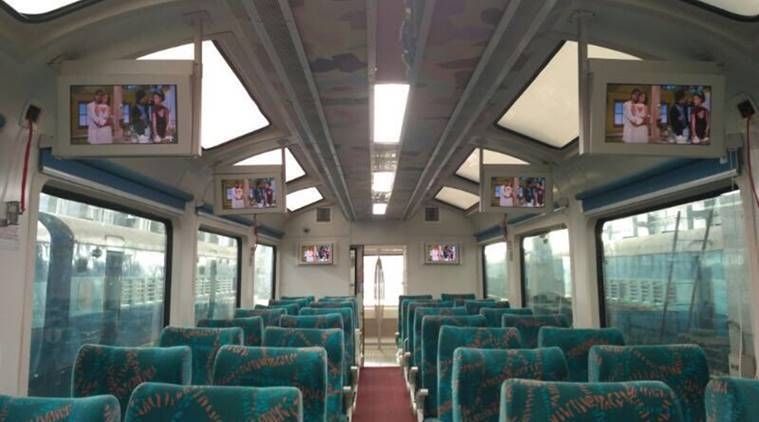 Prabhu launches new rail coach with glass roof, GPS