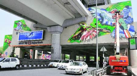 Singapore artists add colour to Arjan Garh Metro station