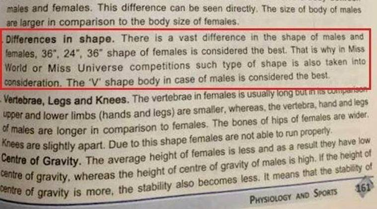 Class 12 cbse physical education textbook claims 36 24 36 is best cbse cbse physical education book physical education book perfect female body text malvernweather Image collections