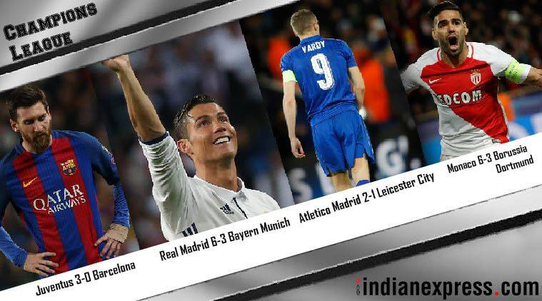 Champions League. Champions League semifinal, Real Madrid, Barcelona, Atletico Madrid, Bayern Munich, Juventus. Cristiano Ronaldo, Lionel Messi, Sports
