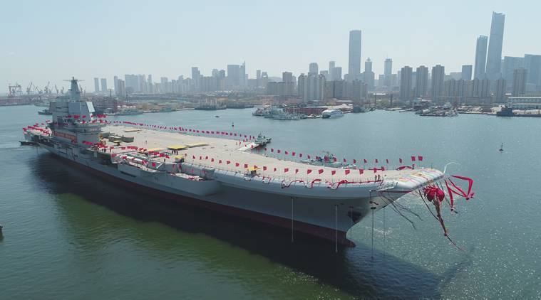 China boosts naval power with new aircraft carrier