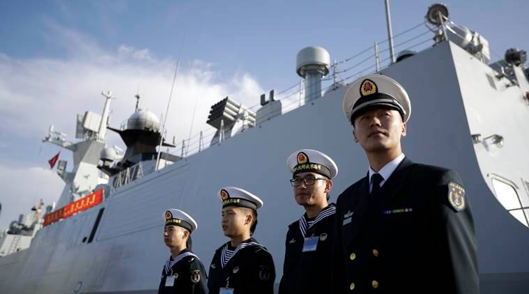 Chinese Navy, Chinese Navy vessel, Chinese navy expansion, new destroyer chinese navy, Indian ocean china, Indian express, India news