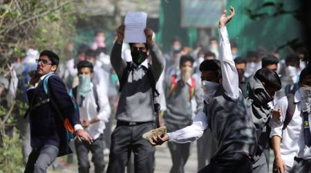 J-K: School students clash with security forces in Pulwama
