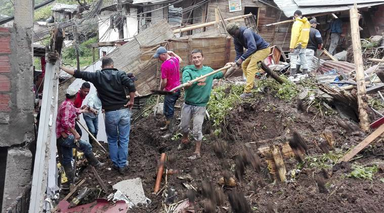 Colombia landslides, Colombia rain, Colombia natural calamity, Colombia landslide reports, Colombia, world news, indian express news