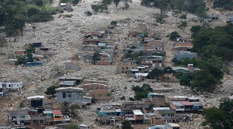 columbia landslide, columbia mudslide, columbia landslide death toll, mocoa, bogota, south america landslide disaster, world news, columbia news, indian express