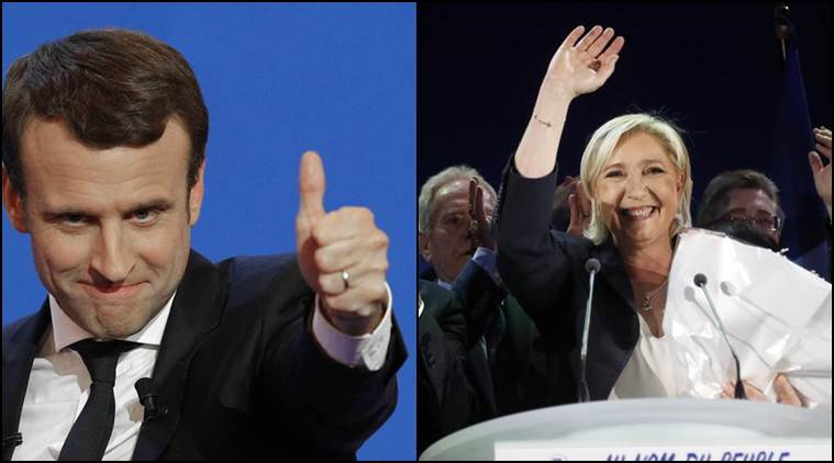 france elections, french presidential election, france presidential polls, emmanuel macron, le pen, marine le pen, french president election, france-runoff elections, indian express
