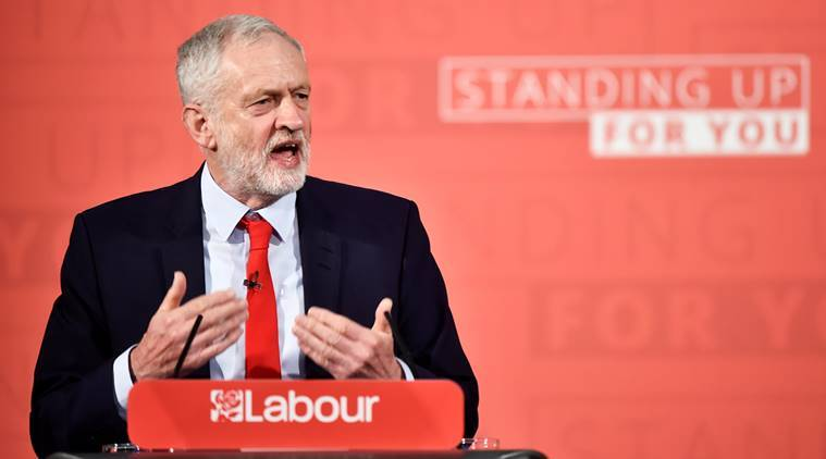 Jeremy Corbyn, Labour party, labour leader corbyn, british snap election, British elections, world news, indian express