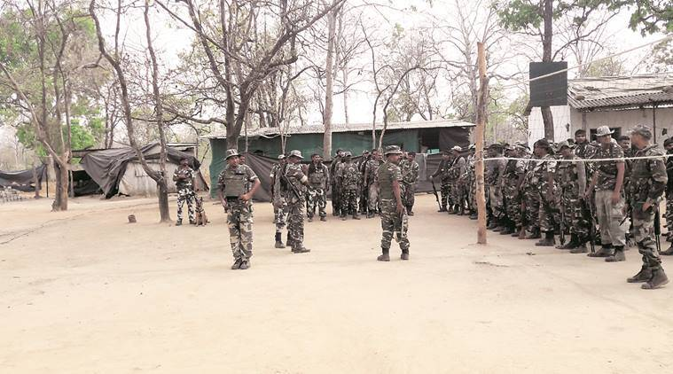 crpf, base camp, indian express
