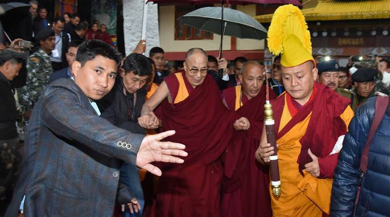 Dalai Lama, Dalai Lama-Tawang visit, India-China, India-China-Dalai Lama, Lumla, Tawang-Lumla, Tibet, bad weather, Assam, Guwahati, Arunachal Pradesh news, India news, Indian Express
