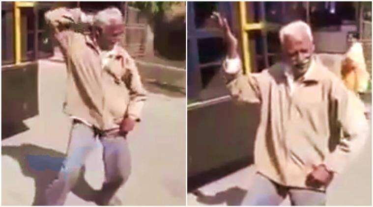 dance video, dance, dancing video, man dancing on streets, viral dance videos, michael jackson, shah rukh khan, amitabh bachchan, michael jackson dance, shah rukh khan dance, amitabh bachchan dance, dancing skills, viral videos, indian express, indian express news