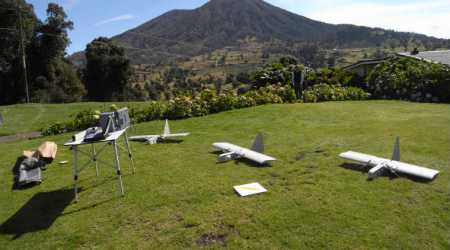 Scientists use drones to collect data from volcanic plume