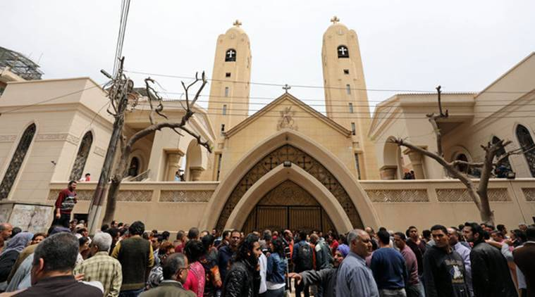 egypt, egypt bombings, cairo, cairo attack, egypt church blast, egypt nile delta church blast, nile delta blast, egypt church bomb explosion casualties, tanta church bomb blast egypt, christian church blast egypt, egypt news, world news, africa news, indian express