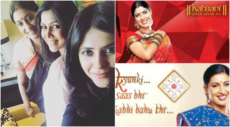ekta kapoor got her favourite bahus tulsi and parvati in same frame