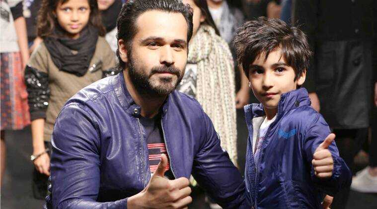 Image result for emraan hashmi with wife and son