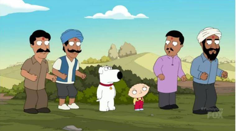 family guy, family guy show, family guy india episode, family guy india beef dig, family guy cow vigilante india, family guy road to india, family guy gau rakshak, family guy cow vigilante episode, viral news, indian express