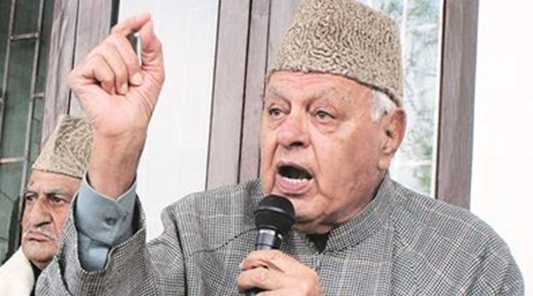 1931 martyrs, BJP, Farooq Abdullah, Farroq Abdullah slams BJP, Srinagar Naqashband Sahib shrine, Dogra rule, PDP BJP government, indian express news