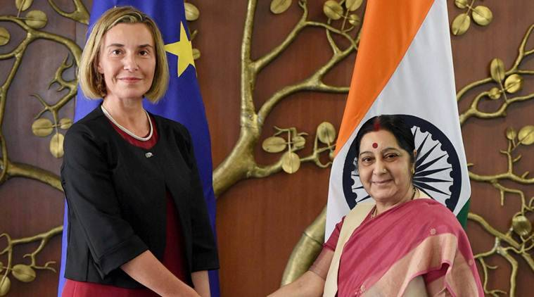 European Union, EU foreign policy chief, Federica Mogherini, Federica Mogherini india visit, Sushma Swaraj, MEA, minister of foreign affairs, india news, indian express news