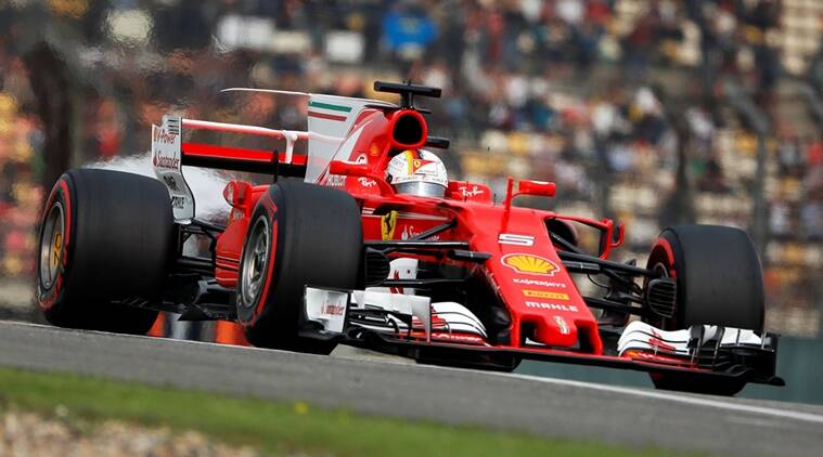Sebastian Vettel, Sebastian Vettel Ferrari, Ferrari Sebastian Vettel, Kimi Raikkonen races, Formula one, Kimi Raikkonen, sports news, sports, Indian Express