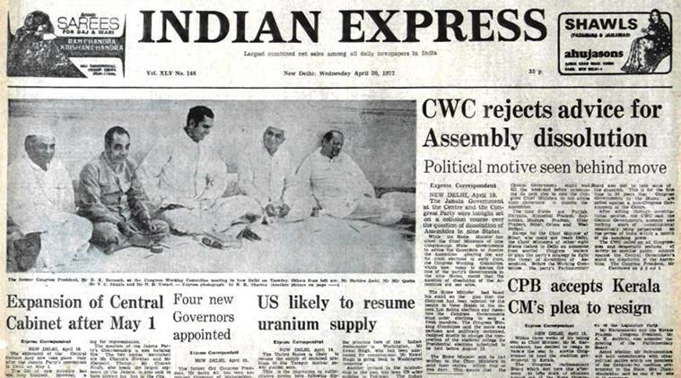forty years ago, indian express, indian express 40 years ago, indian express news, latest news