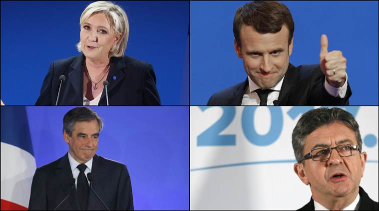 france elections, france presidential election, france election results, french election results, France, france elections live updates, france presidential polls 2017, france presidential polls live updates, France news, france election latest news, marine le pen, francois fillon, jean luc melenchon, paris election voter turnout, france news, world news, indian express