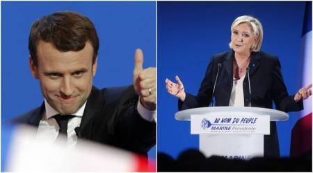 French presidential election: Centrist Macron, far-right Le Pen set for final round showdown