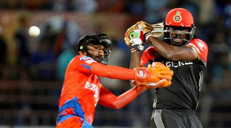 chris gayle, chris gayle batting style, chris gayle ipl, ipl 2017, chris gayle batting, ipl 2017 news, sports news, cricket news, indian express