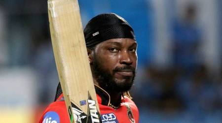 chris gayle, gayle, chris gayle rcb, royal challengers bangalore, gujarat lions, rcb vs gl, gl vs rcb, gayle 10000 runs, gayle runs, sports news, ipl 10, ipl 2017, ipl news, sports news, indian express