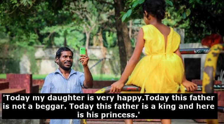 beggars in india, beggar's story facebook viral, facebook story on beggar goes viral, facebook positive stories, positive viral stories, indian express, indian express news