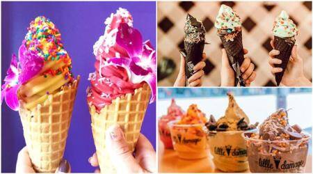 goth ice cream, charcoal ice cream, little damage ice cream, little damage, ice cream gothic, unicorn ice cream, ice cream los angeles, ice cream flavours, ice cream summers, food, food news, lifestyle, lifestyle news, indian express, indian express news