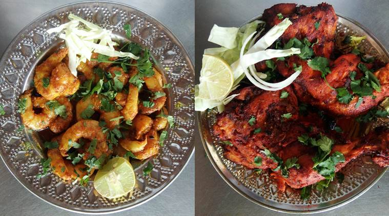Mutton undhiyu in vadodara the indian express spice route prawns l cooked the kathiawadi way and spicy gujarati style dry chicken photo javed raja forumfinder Image collections