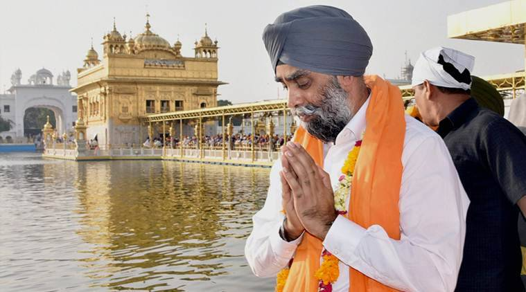 canadian defence minister, harjit singh sajjan, sajjan golden temple visit, sajjan, canada minster golden temple visit, punjab news, indian express