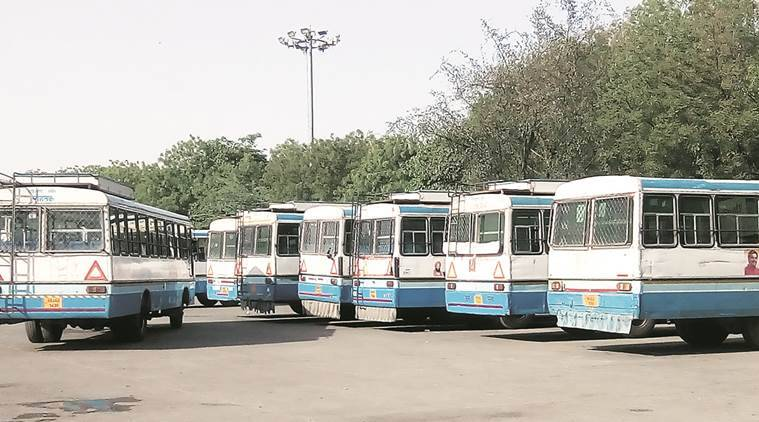 haryana bus, haryana bus service, haryana roadways, haryana bus strike, bus strike, HR buses, Krishan Lal Panwar, indian express news, india news