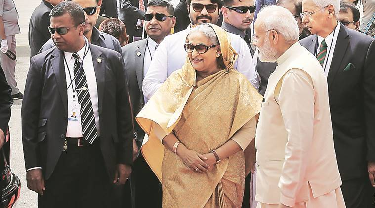 Shiekh Hasina Sheikh Hasina India Sheikh hasina india visit Bangladesh Bangladesh PM sheikh Hasina Narendra Modi PM Modi Sheikh Hasina food Hilsa Bangladesh Hilsa fish hilsa population Hoogly river india news indian express news