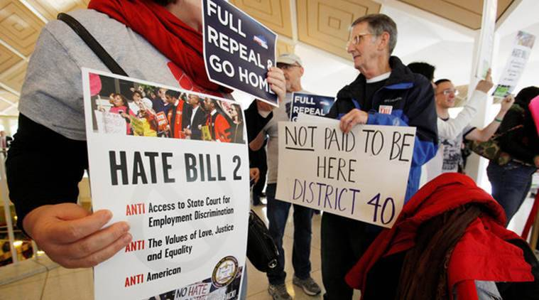 Atlantic Coast Conference, Atlantic Coast Conference HB2,  HB2, transgender bathroom bill, North Carolina, transgender bathroom bill US, transgender bathroom bill North Carolina, lgbt, lgbt rights, US lgbt, latest news, latest world news, indian express