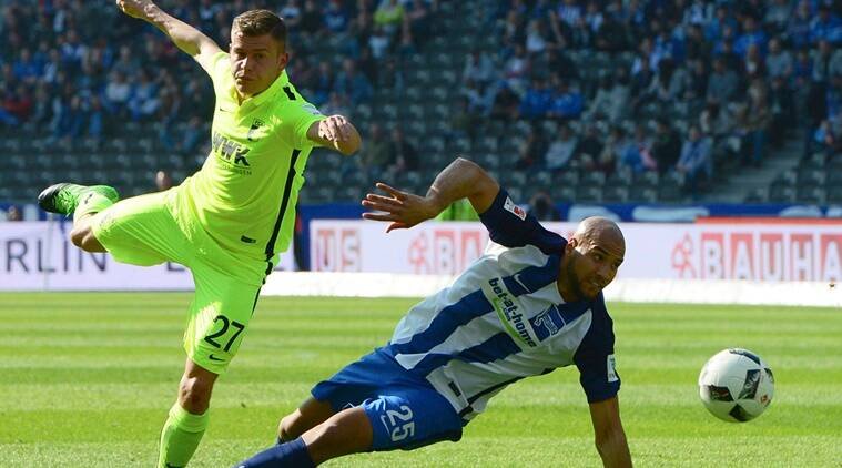 Hertha beats Augsburg to end 3-game losing run in Bundesliga
