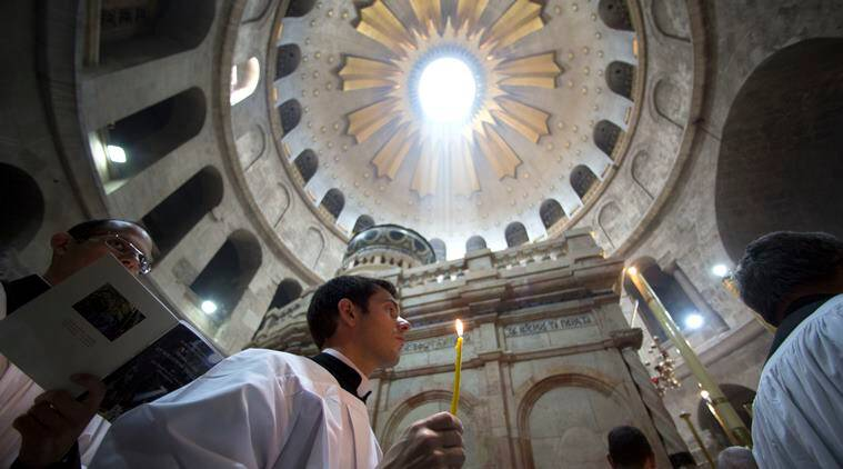 Easter, Israel Easter, Jerusalem Easter, Israel Christians, Christians in Israel, Jesus Christ, Jesus resurrection site, Jerusalem resurrection site, world news, latest news, indian express