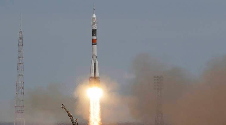 International Space Station, Russia ISS, America ISS, Soyuz MS-04 spacecraft, Fyodor Yurchikhin, Jack Fischer, Baikonur cosmodrome, NASA, Indian Express