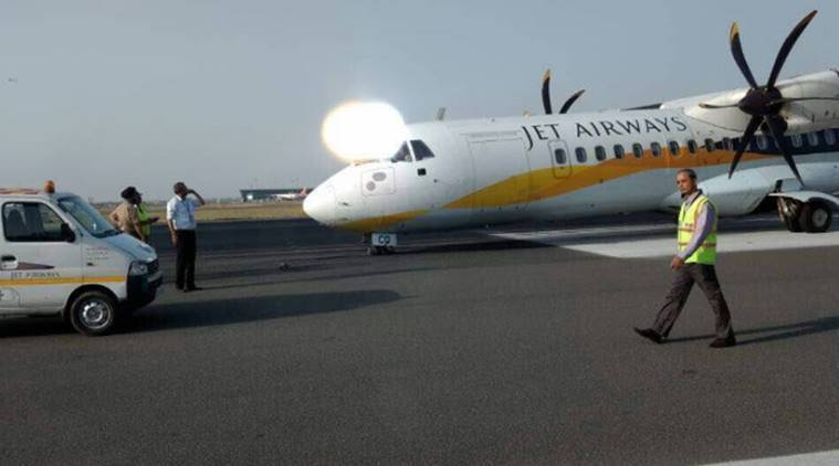 Jet airways, Jet airways IGIA, IGIA, Delhi airport, jet airways malfunction, Delhi jet airways, Dehradun-delhi flight, Delhi news, jet airways news, india news, indian express news